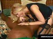 Mega Milf Julia Ann Milf & Rico Shades - Black Cock & Cum In My Mouth!