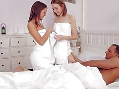 PARADISE FILMS Russian sisters wake up Stepdad