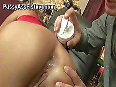 Horny slut gets her gaping asshole part5