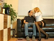Blonde whore in stockings hardcore pussy invasion