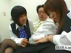 Baskın Japonya ofis bayanlar patronlar hardon ile oynamak