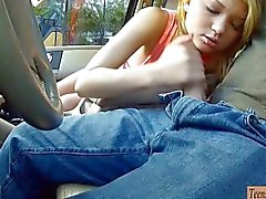 Tight teen Dakota Skye nailed in the car