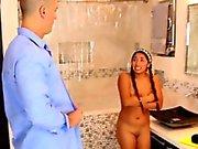 Latina babysitter jizzed