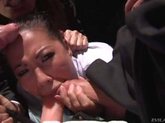 Dana Vespoli gets her hot asian mouth attacked by fat cocks