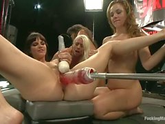 Fucking machine orgy with Lorelei Lee and Annie Cruz