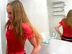 Gulligt ryskt Strapon teen 5