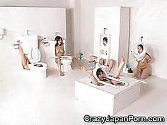Menselijke Toilet Girls Facialed !