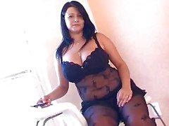 BBW em despertar lingerie preta