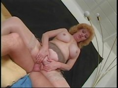 Busty hairy grandma butt fucked by older guy