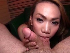 Shemale angel enjoys large cock anally