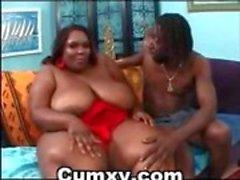 BBW Chubby Vagabunda Ebony Fat Ass Fucked