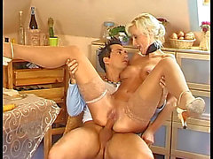 Slutty German golden-haired getting nice fuck in her love tunnel fearsome-fearsome PornDoe