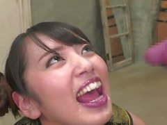 Kanna Misaki engolir 8 cargas de cum