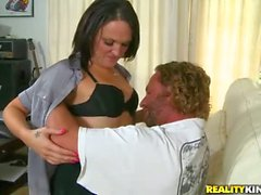 Slutty MILF nurse for man with bum leg