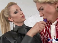 Naughty lesbians play with each other