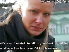 Innocent Czech girl takes money from stranger