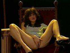 Винтаж вуайерист сцена классического дамой дразнить ее пушистое халяву