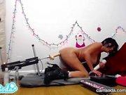 Veronica avluv se fait baiser par le fuckbot pour Noël et godes son cul