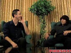 Danny Brooks ja Jacob Marteny nauttien kovaa anaali vittu