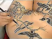chino art body painting in chine