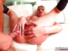 All Internal - Army chick gets creampie