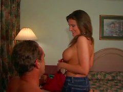 Busty wife comes around for hot shag