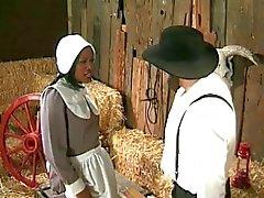 Amische Landwirt annalizes einem schwarzen Magd