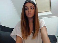 Amateur-rumänisches Babe auf Webcam
