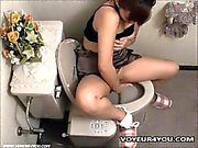 Naughty Asian Girl Getting Restroom Onanism