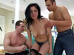Slave hottie double-penetrated