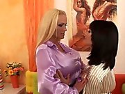 Two foxy stunners pleasure their orgasmic slits