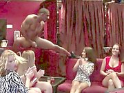 Older Women Go Nuts Over Striptease And Big Black Cock