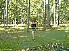 Amandas crossdressed no parque novamente