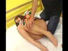 Japanisch Strumpfhose Beine Gefickt