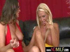 Lesbian MILFs snatch eating 25