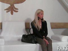 Breathtaking hottie offers sex service during job interview