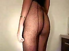 Thai fishnet beauty gets submissive fuck