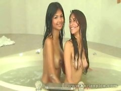 Karla especia atractiva lesbiana sesión de fotos