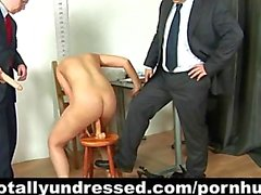 "Young secretary ""interviewed"" by kinky HR people"