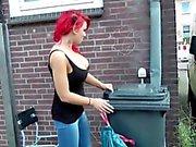 Немецкого рыжеволосая Проститутка получите нешуточной трахает более старых людях