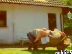 German Couple On A Farm Fucking Outside