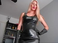 Femdom teases about wanting to be a slave