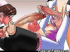 3 boyutlu Hentai Futanari Gençler Cumming !