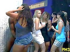 Group sex wild party at night club