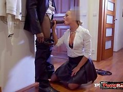 European pornstar interracial with creampie
