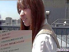 Японские Школьница трахает