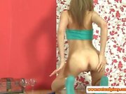 Goldenshower loving euro babe pees herself