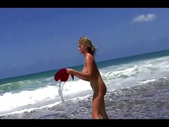 Jenny McClain, Wild Beach Photoshoot