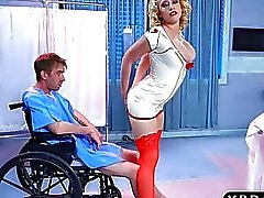 Nurse Kagney Linn Karter cures patient with anal sex