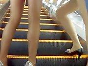 Drei Candid japanischen Nylons Mösen